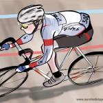 Illustration cycliste mois d'Août 150x150 Mareine Création
