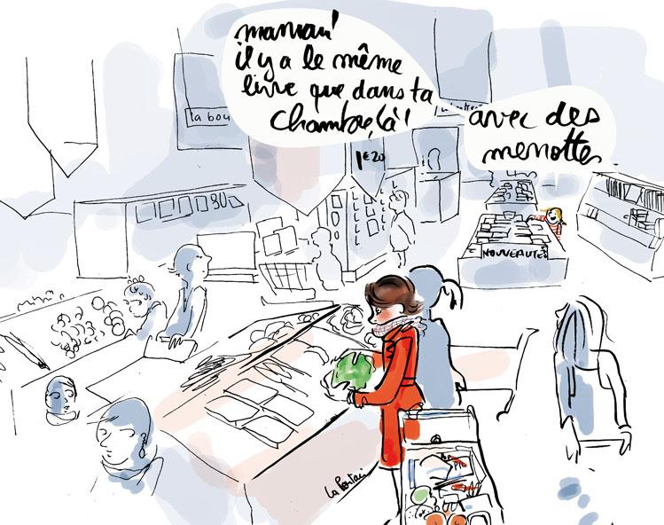 50 Au supermarché, ils ont rapproché le rayon librairie