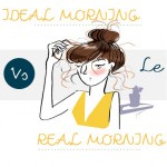 Ideal morning vs Real Morning