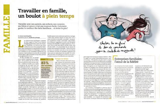 """Article """"Travailler en famille, un boulot à plein temps"""""""
