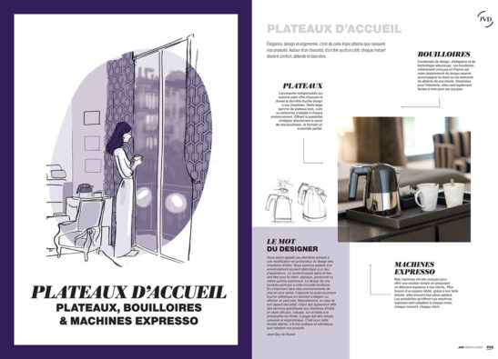 Illustrations pour le catalogue JVD
