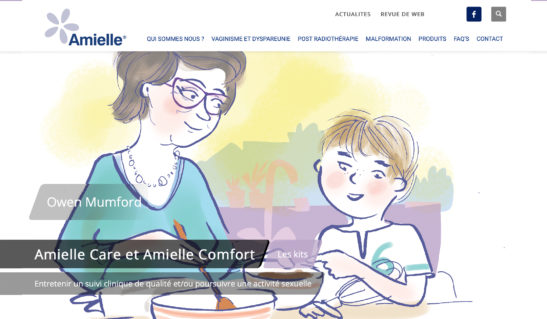 Illustrations pour le site Amielle