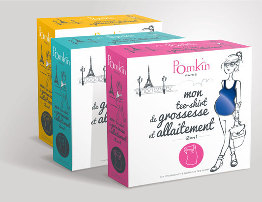 packaging de tee-shirt d'allaitement